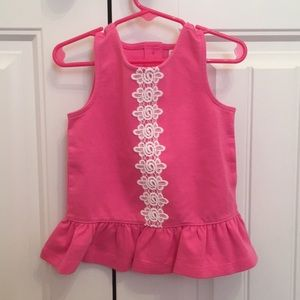 NWOT Janie and Jack peplum top